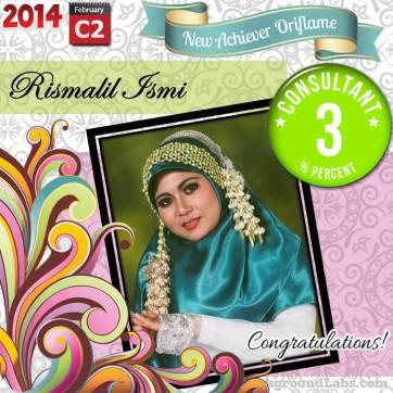 Rismalil Ismi Afida - Independent Consultant Oriflame - Level 3%