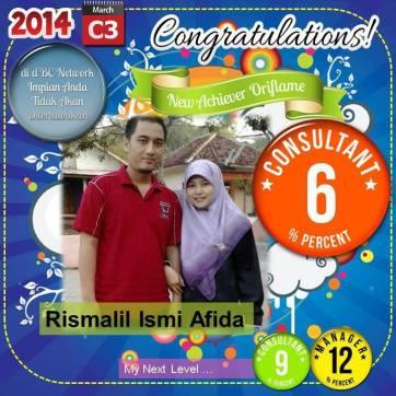 Rismalil Ismi Afida – Independent Consultant Oriflame – Level 6%